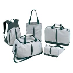 Set genti de bagaje, gri, Everestus, GV01BC, poliester 600D, saculet de calatorie si eticheta bagaj incluse
