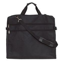 Husa pentru costum cu agatatoare din metal, negru, Everestus, GU11SG, poliester 600D