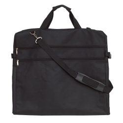 Husa pentru costum cu agatatoare din metal, negru, Everestus, GU11SG, poliester 600D, saculet si eticheta bagaj incluse