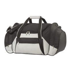 Geanta de calatorie, negru si gri, Everestus, GV02ID, poliester 600D, saculet de calatorie si eticheta bagaj incluse