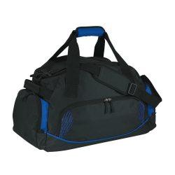 Geanta sport, negru si albastru, Everestus, GS01DE, poliester 600D, saculet de calatorie si eticheta bagaj incluse