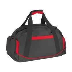 Geanta sport, negru si rosu, Everestus, GS03DE, poliester 600D, saculet de calatorie si eticheta bagaj incluse