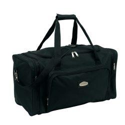 Geanta sport, negru, Everestus, GS29LS, poliester 600D, saculet de calatorie si eticheta bagaj incluse