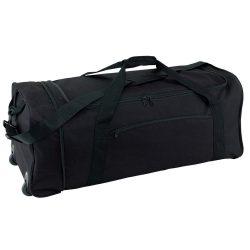 Geanta pliabila cu role, negru, Everestus, GS28HX, poliester 600D, saculet de calatorie si eticheta bagaj incluse