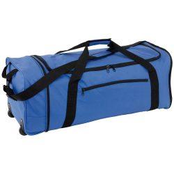 Geanta pliabila cu role, albastru si negru, Everestus, GS27HX, poliester 600D, saculet de calatorie si eticheta bagaj incluse
