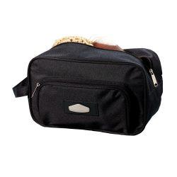 Geanta cosmetice de voiaj, Everestus, LRS01, poliester 600D, negru, saculet de calatorie inclus