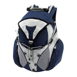 Rucsac albastru, Everestus, RU01CS, poliester 600D, saculet de calatorie si eticheta bagaj incluse