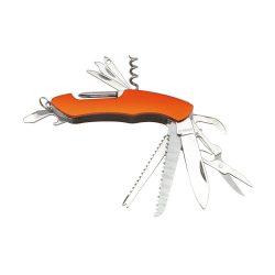 Briceag de buzunar cu 11 functii, otel inoxidabil, Everestus, BMU035, portocaliu
