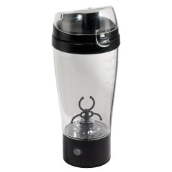 Shaker electric, transparent si negru, Everestus, SH01CL, plastic, acril, silicon