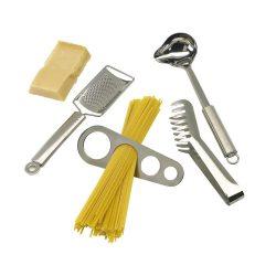 Set pentru facut spaghete, argintiu, Everestus, UB01AE, otel inoxidabil