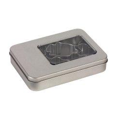 Set 6 forme de prajituri, 11,6 x 8,7 x 2,3 cm, Everestus, 20SEP0953, Otel, Argintiu