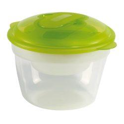 Set 2 caserole 370 ml-900 ml, Everestus, CAE15, plastic, transparent, verde, saculet sport inclus