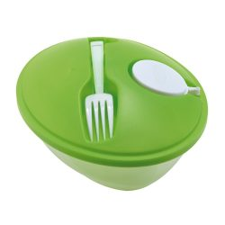 Caserola pentru salata, Everestus, CAE34, plastic, verde, saculet sport inclus