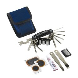 Set pentru reparat bicicleta, albastru si negru, Everestus, AB04OR, otel inoxidabil, plastic, nailon