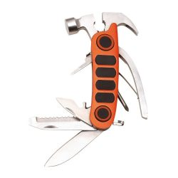 Ciocan multifunctional, portocaliu, Everestus, UM08MT, otel inoxidabil, aluminiu, nailon, saculet de calatorie inclus