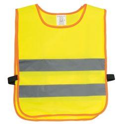 Vesta de siguranta pentru copii MINI HERO, poliester, galben, gri, portocaliu