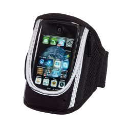 Suport telefon sport pentru brat, Everestus, STT051, neopren, pvc, plastic, negru