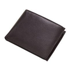 Portofel negru pentru bancnote, carduri si monede, Everestus, PO07PO, piele, 110x90x20 mm