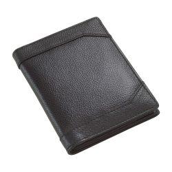 Portofel negru cu 12 buzunare pentru carduri si carti de vizita, Everestus, PO12WT, piele, 117x93x15 mm, lupa de citit inclusa