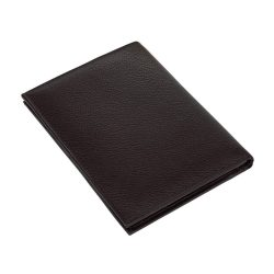 Portofel negru cu 9 buzunare si loc de pasaport, Everestus, PO11VN, piele