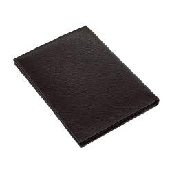 Portofel negru cu 9 buzunare si loc de pasaport, Everestus, PO11VN, piele, 145x110x15 mm, lupa de citit inclusa