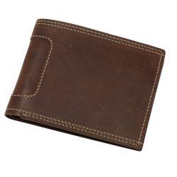 Portofel maro pentru carduri, carti de vizita si bancnote, Everestus, PO13WE, piele, 115x91x19 mm, lupa de citit inclusa