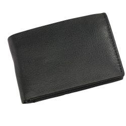 Portofel negru cu 4 buzunare carduri si 2 buzunare bancnote, Everestus, PO04HY, piele