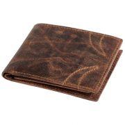 Portofel cu 8 buzunare carduri si 2 buzunare bancnote, maro, Everestus, PO09WS, piele, 120x94x23 mm, lupa de citit inclusa