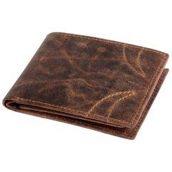 Portofel cu 8 buzunare carduri si 2 buzunare bancnote, maro, Everestus, PO09WS, piele