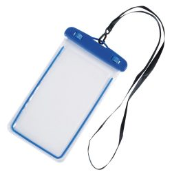 Husa de telefon DIVER, splash-proof, plastic, pvc, phthalate free, albastru, transparent