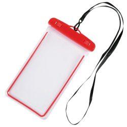 Husa de telefon DIVER, splash-proof, plastic, pvc, phthalate free, rosu, transparent