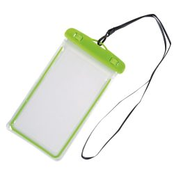 Husa de telefon DIVER, splash-proof, plastic, pvc, phthalate free, verde, transparent