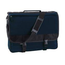 Geanta documente, albastru si negru, Everestus, GD04AI, poliester, saculet de calatorie si eticheta bagaj incluse