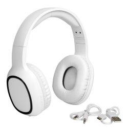 Casti Wireless captusite si ajustabile, Everestus, 20FEB0094, Plastic, Alb