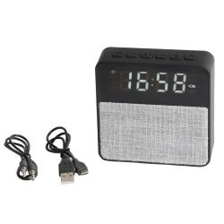 Ceas Alarma Bluetooth GET UP, plastic, poliester, negru, gri