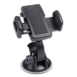 Suport telefon auto cu ventuza, Everestus, STT052, plastic, eva, negru