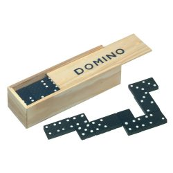 Domino Joc, lemn, negru