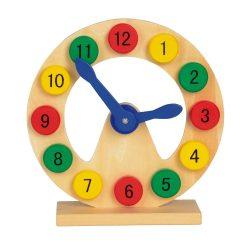 Joc educativ Invatam Ceasul, Everestus, JJE11, lemn, multicolor