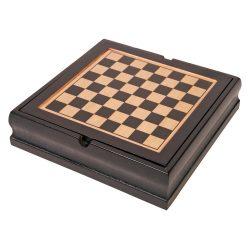 Set jocuri, Sah, Table, Domino, carti de joc si zaruri, maro, Everestus, AV03FN, lemn, plastic