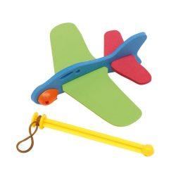 Sky Hopper Avion din 4 piese, verde, rosu si albastru