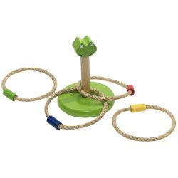 Joc de indemanare cu 4 inele, Everestus, JJE12, lemn, verde