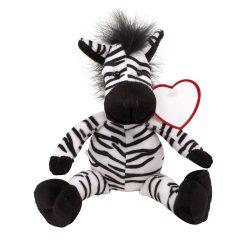 "Zebra de Plus, inaltime 30 cm, Kidonero, Colectia ""Micul meu prieten"", JPK026, poliester, negru, alb, radiera inclusa"