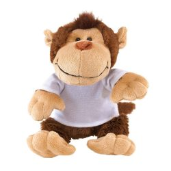 "Maimuta de Plus, inaltime 23 cm, Kidonero, Colectia ""Micul meu prieten"", JPK016, poliester, maro, bej, radiera inclusa"