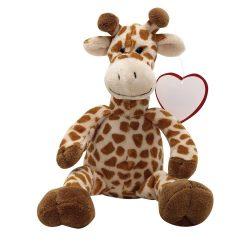"Girafa de Plus, inaltime 27 cm, Kidonero, Colectia ""Micul meu prieten"", JPK030, poliester, maro, radiera inclusa"