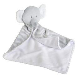 "Elefant de Plus, inaltime 35 cm, Kidonero, Colectia ""Micul meu prieten"", JPK018, poliester, gri, alb, radiera inclusa"