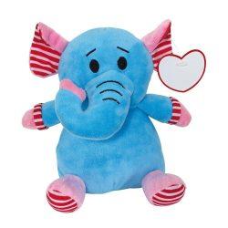 """Elefant de Plus, inaltime 20 cm, Kidonero, Colectia """"Micul meu prieten"""", JPK052, poliester, albastru"""