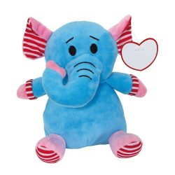 """Elefant de Plus, inaltime 20 cm, Kidonero, Colectia """"Micul meu prieten"""", JPK052, poliester, albastru, radiera inclusa"""