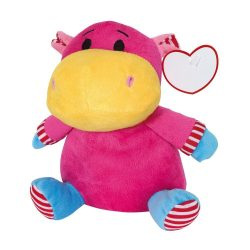 Beate Hipopotam de plus, roz si galben