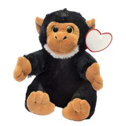 "Maimuta de Plus, inaltime 18 cm, Kidonero, Colectia ""Micul meu prieten"", JPK013, poliester, negru"