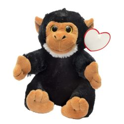 "Maimuta de Plus, inaltime 18 cm, Kidonero, Colectia ""Micul meu prieten"", JPK013, poliester, negru, radiera inclusa"